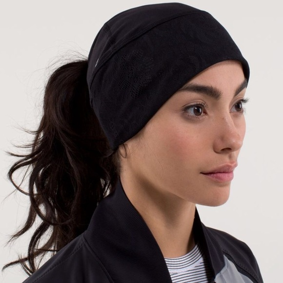 573d5f049d6 lululemon athletica Accessories - LULULEMON toque running beanie with  ponytail hole!